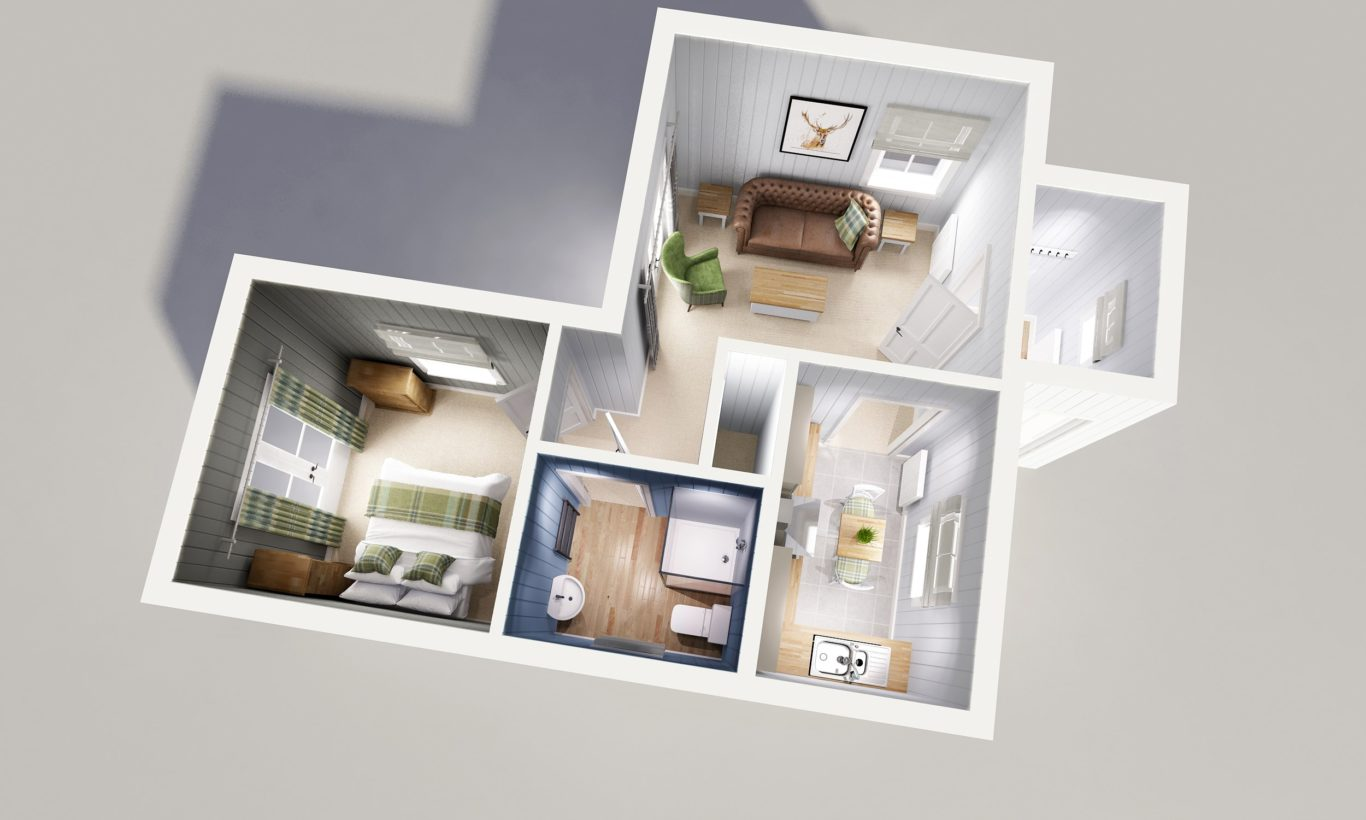 One Bedroom Modular Home Floor Plan The Wee House Company