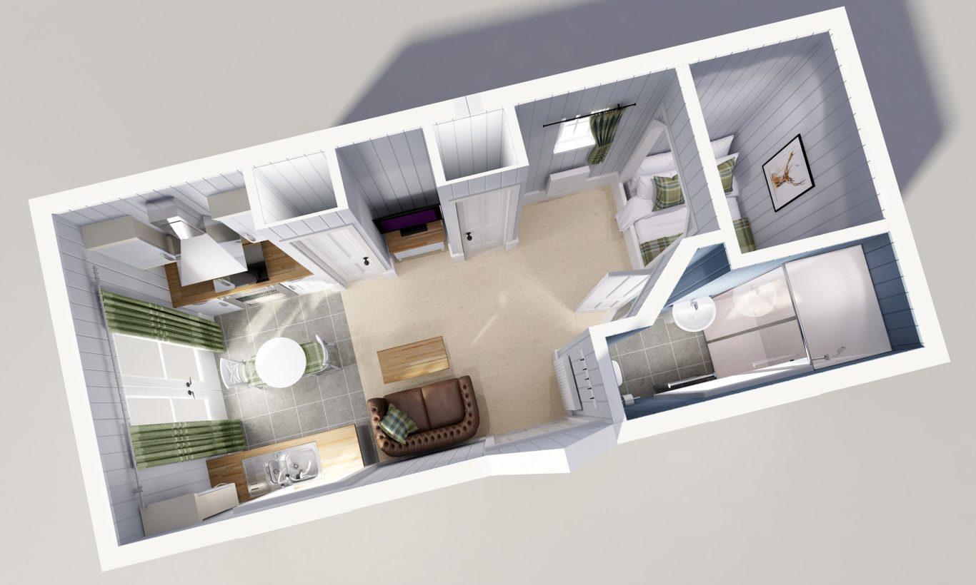 Studio Modular Home Floor Plan The Wee House Company