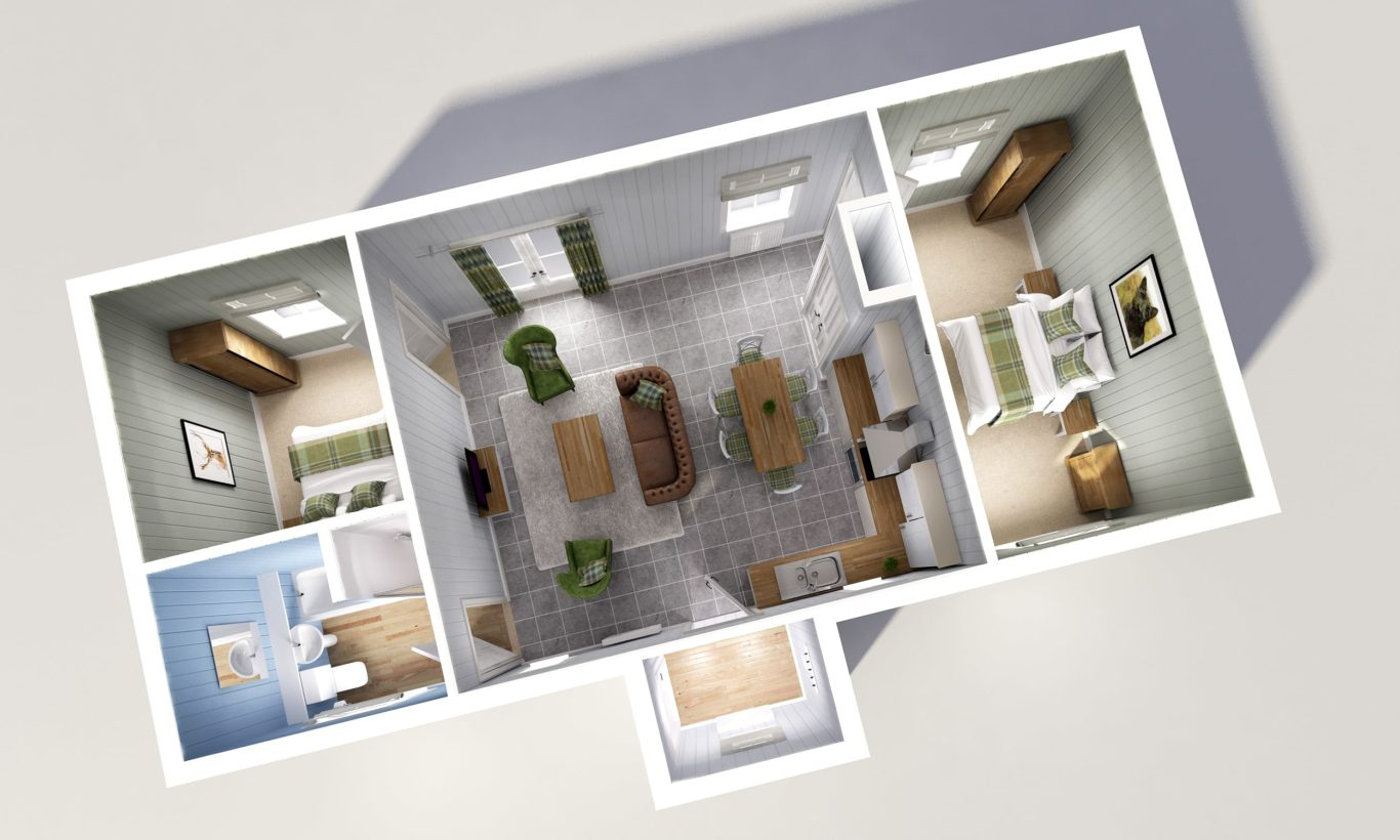 Two Bedroom Open Plan Modular Home The Wee House Company